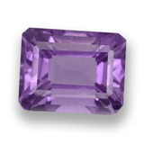thumb image of 2.6ct Octagon Step Cut Violet Amethyst (ID: 458001)