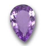 thumb image of 4.3ct Pear Facet Violet Amethyst (ID: 458414)
