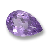 thumb image of 5.3ct Pear Facet Violet Amethyst (ID: 458423)