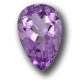 thumb image of 5.2ct Pear Facet Violet Amethyst (ID: 458444)