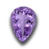 thumb image of 10.6ct Pear Facet Violet Amethyst (ID: 458510)