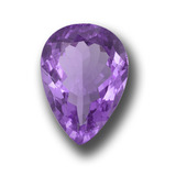 thumb image of 9.5ct Pear Facet Violet Amethyst (ID: 458513)