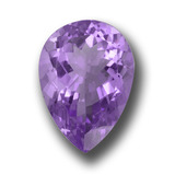 thumb image of 10.3ct Pear Facet Violet Amethyst (ID: 458518)