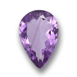 thumb image of 4.1ct Pear Facet Violet Amethyst (ID: 458786)