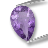 thumb image of 4.6ct Pear Facet Violet Amethyst (ID: 459827)