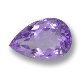 thumb image of 5.9ct Pear Facet Violet Amethyst (ID: 460080)
