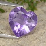 thumb image of 2.8ct Heart Facet Violet Amethyst (ID: 476315)