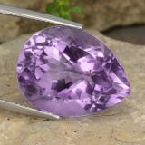 thumb image of 17.8ct Pear Facet Violet Amethyst (ID: 477886)
