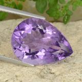 thumb image of 8.8ct Pear Facet Violet Amethyst (ID: 478190)