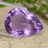 thumb image of 6.6ct Pear Facet Violet Amethyst (ID: 478314)