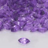 0.15 ct Marquiseschliff Medium Violet Amethyst Edelstein 4.82 mm x 2.4 mm (Photo B)