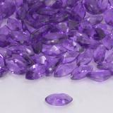 0.15 ct Marquiseschliff Medium Violet Amethyst Edelstein 4.82 mm x 2.4 mm (Photo C)