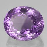 42.34 ct Овальная Португальская Огранка Deep Purplish Violet Аметист Камень 22.94 mm x 19.4 mm (Photo B)