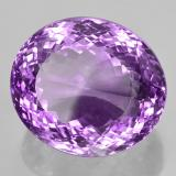 59.45 ct Oval Portuguese-Cut Deep Pinkish Violet Amethyst Gem 25.25 mm x 22 mm (Photo B)