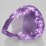 52.37 ct Birnen Schliff Medium Purplish Violet Amethyst Edelstein 27.01 mm x 21.8 mm (Photo B)