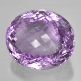 73.54 ct Oval Schachbrett Medium Pinkish Violet Amethyst Edelstein 28.88 mm x 24.6 mm (Photo B)