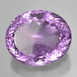 44.98 ct Oval Portuguese-Cut Purplish Violet Amethyst Gem 24.52 mm x 20.5 mm (Photo B)