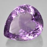 56.59 ct Sfaccettatura a pera violaceo Ametista Gem 26.94 mm x 22.9 mm (Photo B)