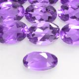 0.43 ct Oval facettiert Vivid Violet Amethyst Edelstein 6.02 mm x 4 mm (Photo C)