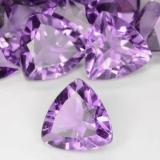1.47 ct Trillion Facet Medium Purplish Violet Amethyst Gem 8.09 mm x 8.1 mm (Photo B)