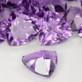 1.47 ct Trillion Facet Medium Purplish Violet Amethyst Gem 8.09 mm x 8.1 mm (Photo C)