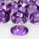 1.14 ct Oval Facet Medium-Dark Violet Amethyst Gem 7.98 mm x 6 mm (Photo C)