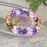 thumb image of 13.3ct Oval Portuguese-Cut Bi-Color Ametrine (ID: 333135)