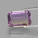 thumb image of 3.4ct Octagon facette Bicolore Amétrine (ID: 427532)