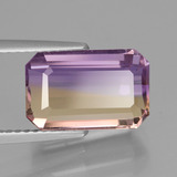 4.48 ct Octagon Facet Bi-Color Ametrine Gem 11.87 mm x 7.6 mm (Photo B)