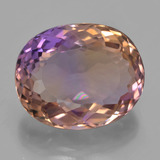 thumb image of 13.6ct Oval Facet Bi-Color Ametrine (ID: 433548)