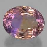 thumb image of 25.6ct Oval Portuguese-Cut Bi-Color Ametrine (ID: 433662)