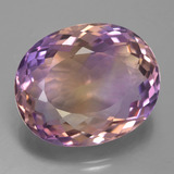 thumb image of 20.9ct Oval Portuguese-Cut Bi-Color Ametrine (ID: 433800)