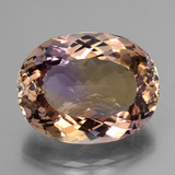thumb image of 34.3ct Oval Facet Bi-Color Ametrine (ID: 434535)