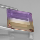 7.13 ct Fancy Facet Bi-Color Ametrine Gem 17.59 mm x 13.6 mm (Photo C)