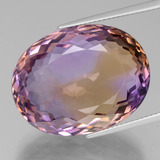 thumb image of 43.4ct Oval Portuguese-Cut Bi-Color Ametrine (ID: 439401)