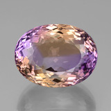 thumb image of 39.8ct Oval Portuguese-Cut Bi-Color Ametrine (ID: 439403)