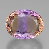 thumb image of 38.6ct Oval Portuguese-Cut Bi-Color Ametrine (ID: 439404)