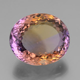 35.91 ct Oval Portuguese-Cut Bi-Color Ametrine Gem 22.21 mm x 19.2 mm (Photo B)