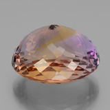 35.91 ct Oval Portuguese-Cut Bi-Color Ametrine Gem 22.21 mm x 19.2 mm (Photo C)
