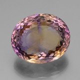 37.08 ct Oval Portuguese-Cut Bi-Color Ametrine Gem 22.27 mm x 18.7 mm (Photo B)