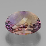 37.08 ct Oval Portuguese-Cut Bi-Color Ametrine Gem 22.27 mm x 18.7 mm (Photo C)