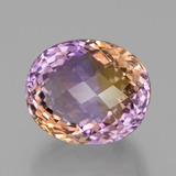 thumb image of 33.2ct Oval Checkerboard Bi-Color Ametrine (ID: 439543)