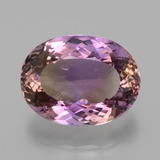 thumb image of 30.5ct Oval Portuguese-Cut Bi-Color Ametrine (ID: 439545)