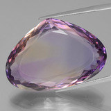 thumb image of 38.8ct Pear Facet (double-sided) Bi-Color Ametrine (ID: 439665)