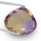 thumb image of 47.4ct Pear Facet (double-sided) Bi-Color Ametrine (ID: 439666)