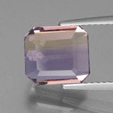 thumb image of 3.3ct Oktagon facettiert Zweifarbig Ametrin (ID: 441879)