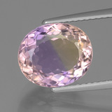 thumb image of 4.1ct Oval Facet Bi-Color Ametrine (ID: 443130)
