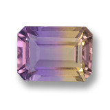 thumb image of 3ct Octagon Step Cut Bi-Color Ametrine (ID: 459644)