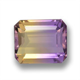 thumb image of 3ct Octagon Step Cut Bi-Color Ametrine (ID: 461903)