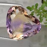 thumb image of 12.3ct Heart Facet Bi-Color Ametrine (ID: 470351)